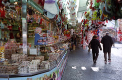 Sweet shop in Rome Royalty Free Stock Photography