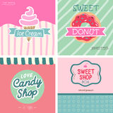 Sweet shop set. VEctor -illustration. Beatifull vintage style sweet shop set. VEctor -illustration Stock Image