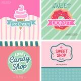 Sweet shop set. VEctor -illustration. Beatifull vintage style sweet shop set. VEctor -illustration stock illustration