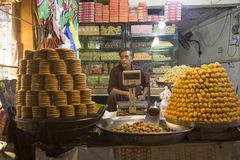 Sweet Shop in Street Near Data darbar Lahore Pakistan Royalty Free Stock Images