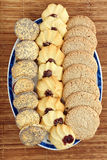 Sweet shortbread biscuits with poppy seed and jam Royalty Free Stock Photography