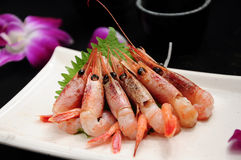 Sweet shrimp sashimi Stock Image