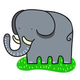 Sweet simple elephant Royalty Free Stock Photo