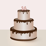 Sweet sixteen birthday cake Stock Images