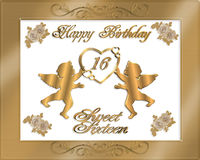 Sweet Sixteen Birthday Party Invitation Stock Photography