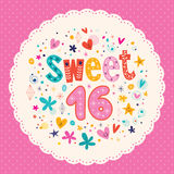 Sweet Sixteen card Royalty Free Stock Photos