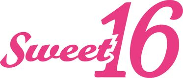 Sweet sixteen 16th birthday. Vector Stock Photo