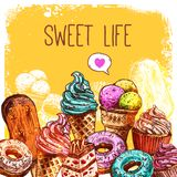 Sweet Sketch Illustration Royalty Free Stock Images