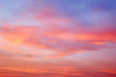 Sweet Sky on evening. Blured of sweet Sky on evening after sunset Royalty Free Stock Photography