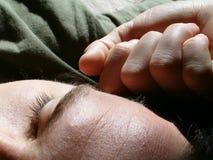 Sweet sleep. Taking a deep sleep in the warm sunlight Stock Photos