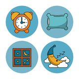 Sweet sleep icons. Over white background vector illustration graphic design Royalty Free Stock Photos