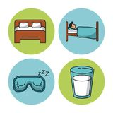 Sweet sleep icons. Over white background vector illustration graphic design Stock Photo
