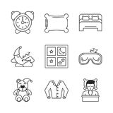 Sweet sleep icons. Over white background vector illustration graphic design Stock Images