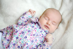 Sweet sleeping baby Stock Images