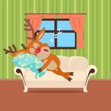 Sweet Sleeping at Home Cartoon Vector Concept Royalty Free Stock Photos