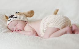 Sweet sleeping newborn Stock Photography