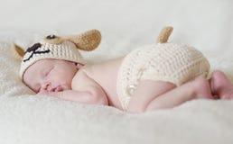 Sweet sleeping newborn Stock Photography