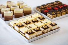 Sweet sliced cake Stock Image
