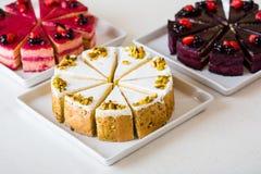 Sweet sliced cake Stock Photography