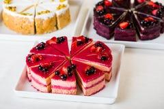 Sweet sliced cake Stock Images