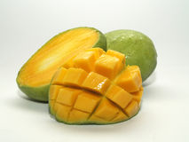 Sweet Sliced Mangoes. Sweet and lovely mangoes. Fresh fruits for health stock image