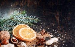 Sweet Sliced Orange for Christmas Royalty Free Stock Photos
