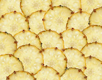 Sweet slices of pineapple fruit such as food background Royalty Free Stock Images