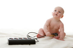 Sweet small baby Stock Images