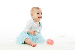 Sweet small baby girl. Royalty Free Stock Photo