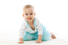 Sweet small baby girl. Stock Images