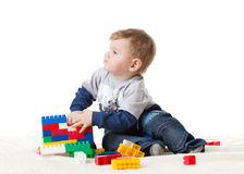 Sweet small baby with toy. Stock Image