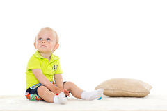 Sweet small baby with toy. Royalty Free Stock Image