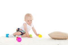 Sweet small baby with toy. Royalty Free Stock Photography