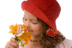 Sweet smell of flowers Royalty Free Stock Photos