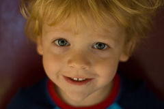 Sweet Smile. Close up of little boy smiling Stock Photos