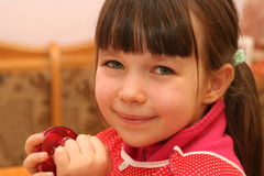 Sweet smile. Little girl look at you Royalty Free Stock Photos