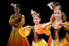 Sweet smile--Xinjiang Uygur dance Stock Images