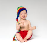Sweet smiling baby Stock Images