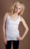 Sweet, Smiling Teenage Girl Stock Images