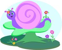 Sweet Snail in the Forest Royalty Free Stock Photography