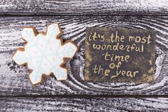 Free Sweet Snowflake With New Year`s Card Royalty Free Stock Photography - 105968817