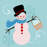 Sweet Snowman Royalty Free Stock Images