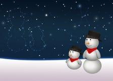 Sweet Snowmen Constellation Stock Images