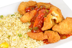 Sweet And Sour Battered Chicken Royalty Free Stock Image