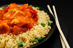 Sweet and sour chicken stock images