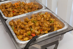Sweet and Sour Chicken at a buffet Stock Photo