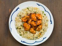 Sweet and Sour Chicken Chinese Food Royalty Free Stock Photos