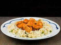 Sweet and Sour Chicken Chinese Food Stock Image
