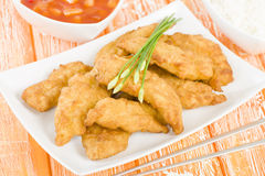 Sweet & Sour Chicken Royalty Free Stock Images