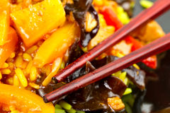 Sweet and sour chicken close up Royalty Free Stock Images
